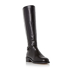Dune - Black 'Vawn' buckle trim knee high boot