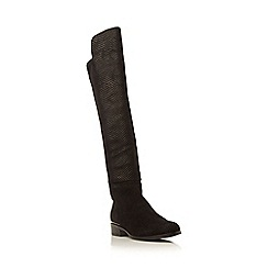 Dune - Black 'Trish lux' reptile effect over the knee boot