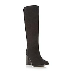 Dune - Black block heel knee high boot