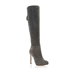 Dune - Grey 'Skyler' suede high heel knee high boot