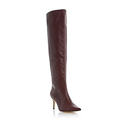 Dune - Maroon 'Sylver' pointed toe over the knee boot