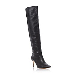 Dune - Black 'Sylver' pointed toe over the knee boot