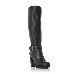 Dune - Black 'Sami' high heel leather knee high boot