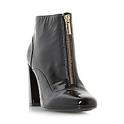 Dune - Black 'Oldwych' front zip heeled ankle boot