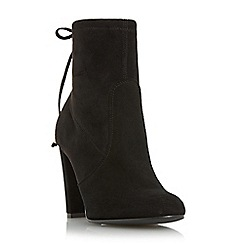 Dune - Black 'Orchid' round toe block heel ankle boot