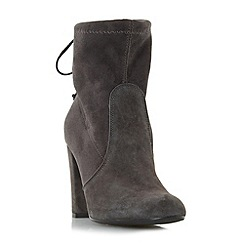Dune - Grey 'Orchid' round toe block heel ankle boot