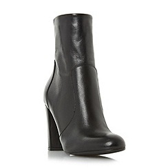 Dune - Black 'Otto' round toe heeled ankle boot