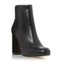 Dune - Black 'Oxbury' square toe leather ankle boot