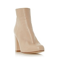 Dune - Cream 'Oxbury' square toe leather ankle boot