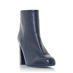 Dune - Navy 'Oxbury' square toe leather ankle boot