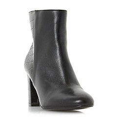 Dune - Black 'Opel' round toe block heel ankle boot
