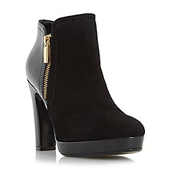 Dune - Black 'Oscar' side zip mixed material ankle boot