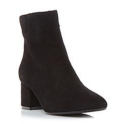 Dune - Black 'Packham' low block heel ankle boot