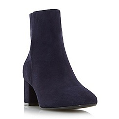Dune - Navy 'Packham' low block heel ankle boot