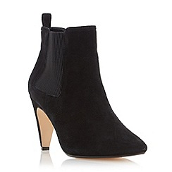 Dune - Black 'Olivv' pointed toe ankle boot