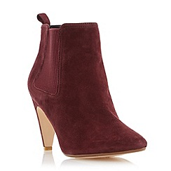 Dune - Maroon 'Olivv' pointed toe ankle boot