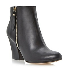 Dune - Black tassel detail block heel ankle boot