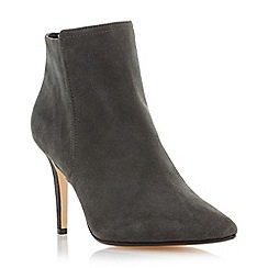 Dune - Grey 'Orlando' high heel pointed toe ankle boot