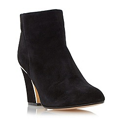 Dune - Black 'Olsenn' gold frame heel  ankle boot