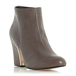 Dune - Taupe 'Olsenn' gold frame heel  ankle boot