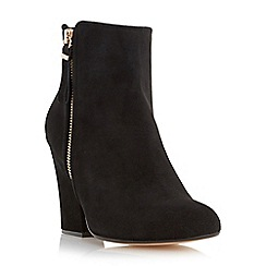 Dune - Black-suede 'Zip' ankle boot