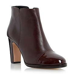 Dune - Red patent toe cap leather ankle boot