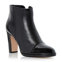 Dune - Black patent toe cap leather ankle boot