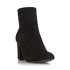 Dune - Black 'Opel' round toe block heel ankle boot