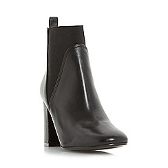 Dune - Black 'Ohio' square toe heeled chelsea boot