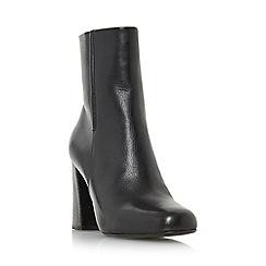 Dune - Black 'Osmond' flared heel ankle boot