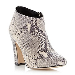 Dune - Natural reptile suede dressy heeled boot