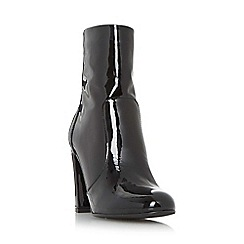 Dune - Black 'Otto' round toe heeled ankle boots