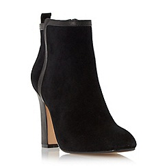 Dune - Black 'Oke' high heel leather trim ankle boot