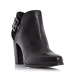 Dune - Black 'Oaklee' side buckle block heel ankle boot