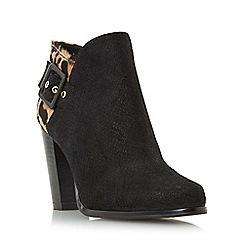 Dune - Multicoloured 'Oaklee' side buckle block heel ankle boot