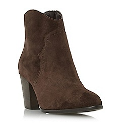 Dune - Brown 'Priscila' heeled western boot