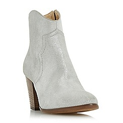 Dune - Silver 'Priscila' heeled western boot