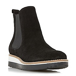 Dune - Black 'Pontow' flatform chelsea boot