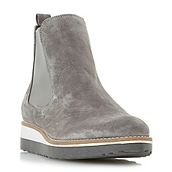 Dune - Grey 'Pontow' flatform chelsea boot