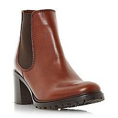 Dune - Tan 'Podrik' block heel chelsea boot