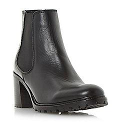 Dune - Black 'Podrik' block heel chelsea boot