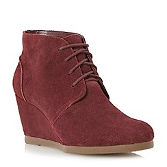 Dune - Berry crepe sole wedge desert boot