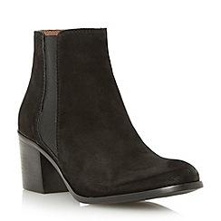 Dune - Black block heel nubuck chelsea boot