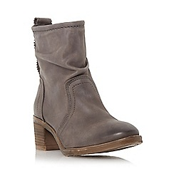Dune - Grey ruched leather ankle boot