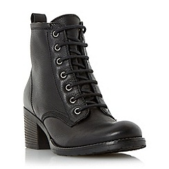 Dune - Black 'Patsie' warm lined leather ankle boot