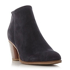 Dune - Navy 'Princeton' back zip ankle boot