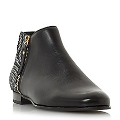 Dune - Black 'Pander' side zip ankle boot