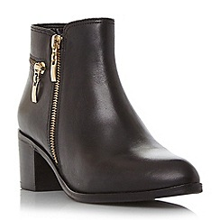 Dune - Black 'Pemberley' zip detail pointed toe ankle boot