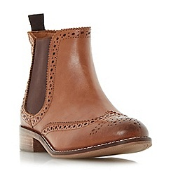 Dune - Tan 'Quenton' brogue chelsea boot