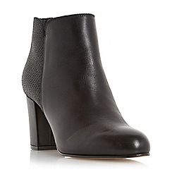 Dune - Black 'Palleton' block heel leather ankle boot